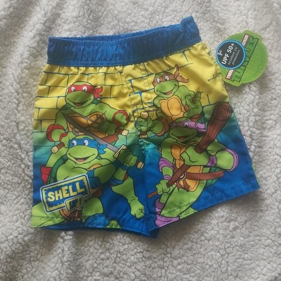 4T Teenage Mutant Ninja Turtles Toddler 2 Piece Swim Set Sz 2T 5T NWT UPF 50+